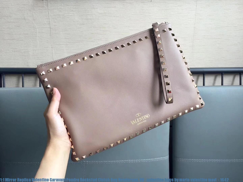 7320d9dd0c6a3 1 1 Mirror Replica Valentino Garavani Poudre Rockstud Clutch Bag ...