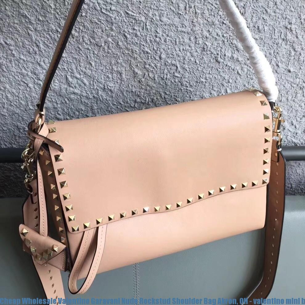 Valentino Rockstud Small Handbag Black/Ruthenium   AAA Handbag