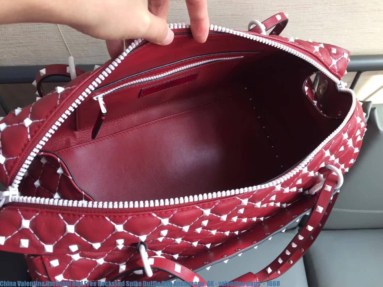 China Valentino Garavani Red Free Rockstud Spike Duffle Bag Anchorage Ak Bags 1668