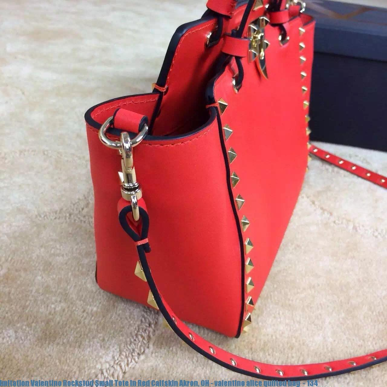 ba83ff1b495 Imitation Valentino Rockstud Small Tote In Red Calfskin Akron, OH ...