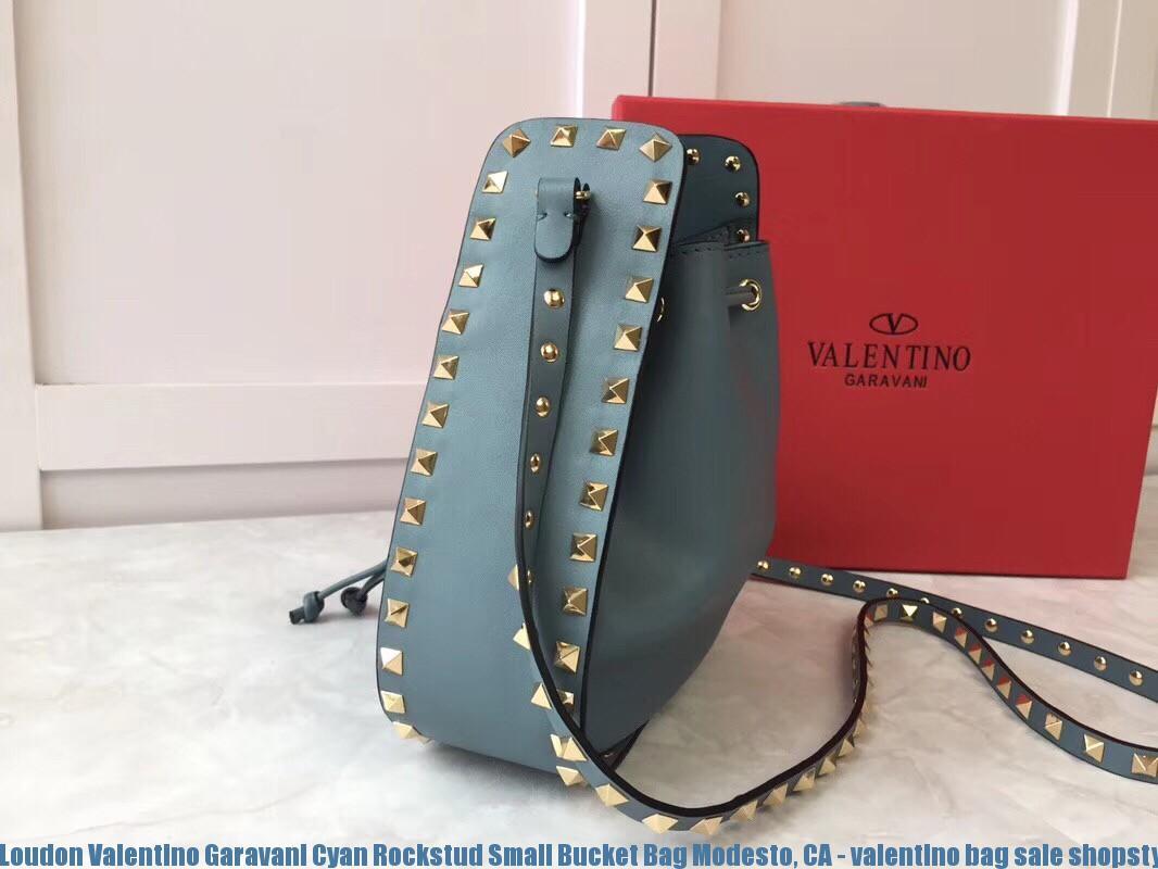 f34f86dfc44 Loudon Valentino Garavani Cyan Rockstud Small Bucket Bag Modesto, CA -  valentino bag sale shopstyle - 2104