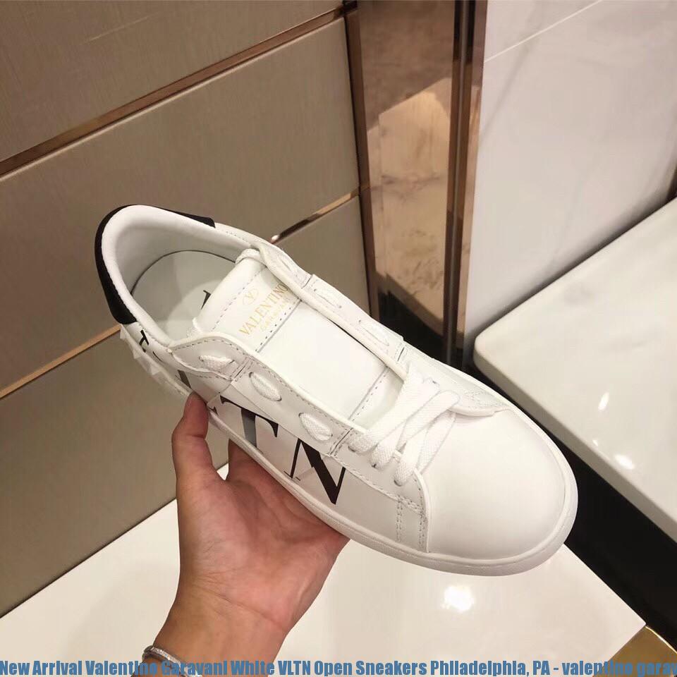 690055b61e16 New Arrival Valentino Garavani White VLTN Open Sneakers Philadelphia ...